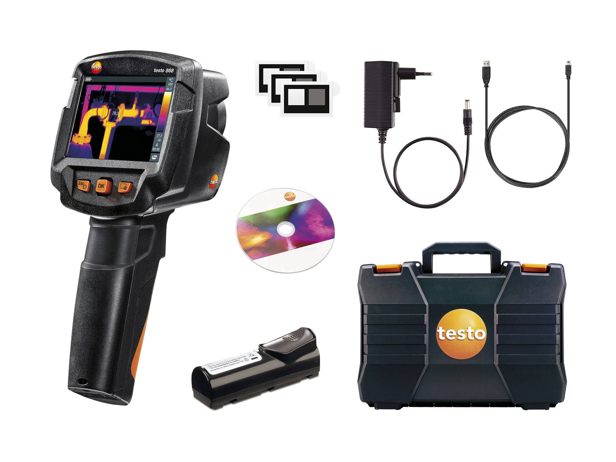 testo 868 - thermal imager with App - Delivery scope