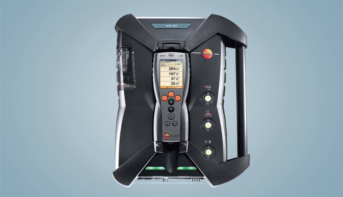 The testo 350 gas analysis system houses a number of testing devices in one unit.