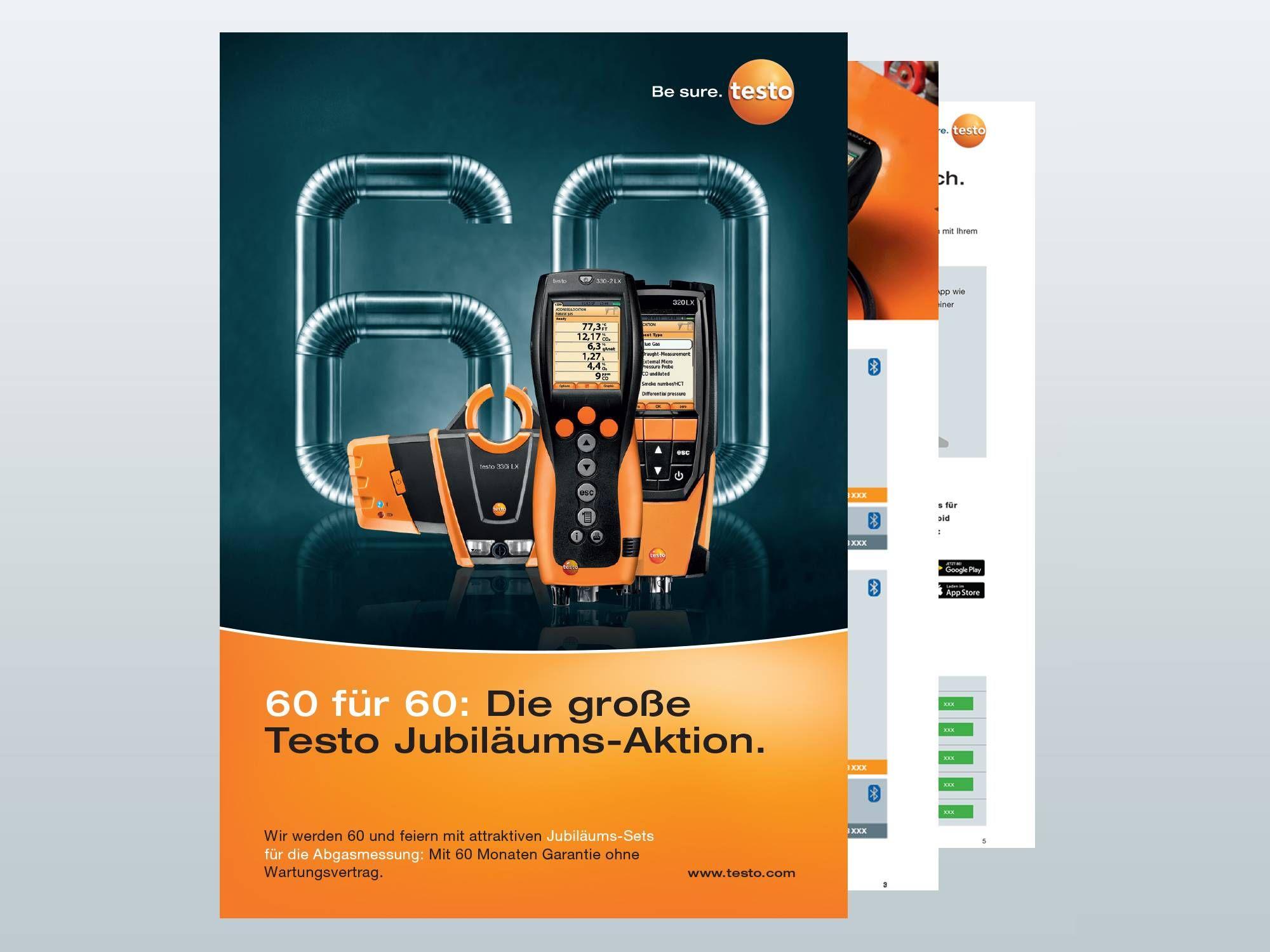 Broschüre Testo Jubiläums-Sets