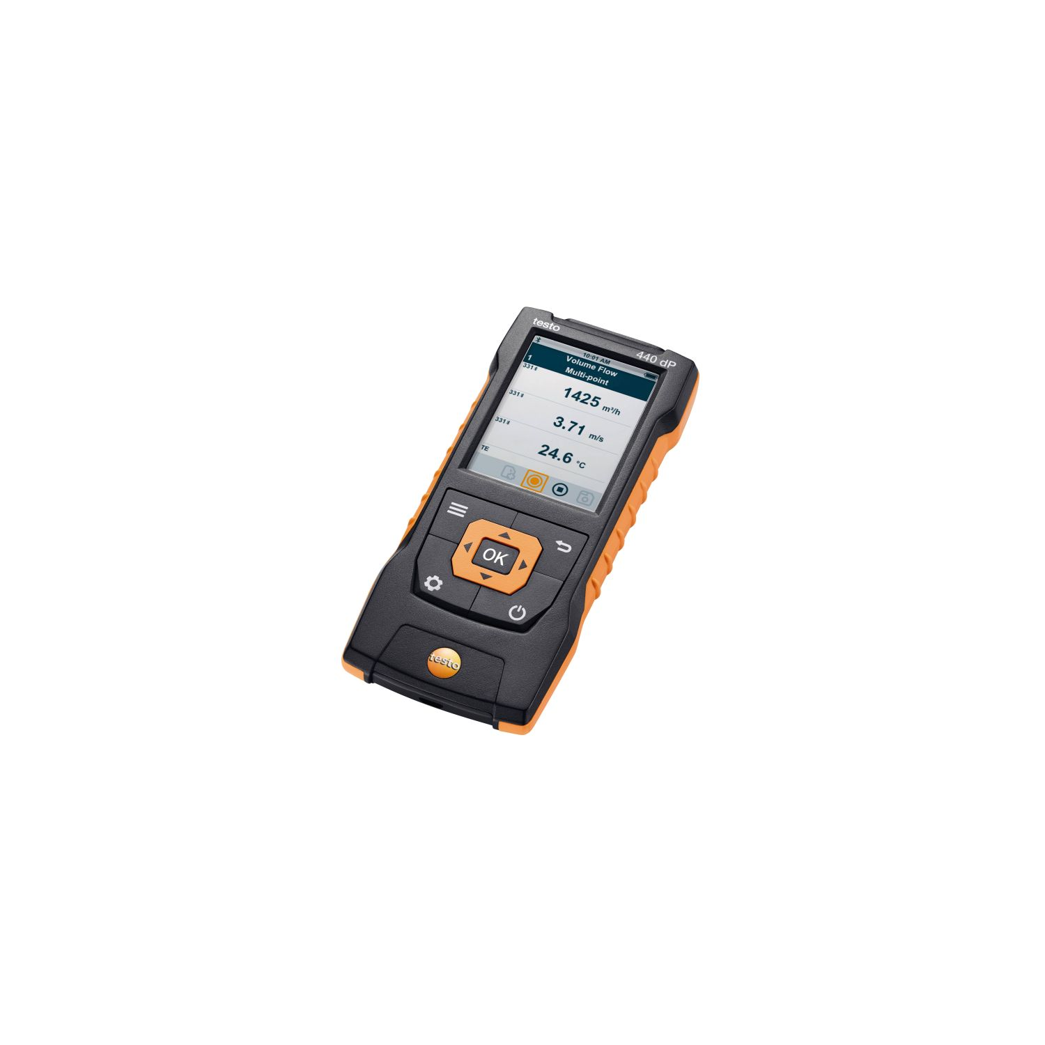 testo 440 dP Air velocity and IAQ measuring instrument including differential pressure sensor
