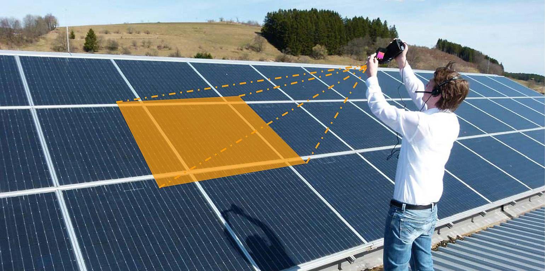 Thermografie an Photovoltaik-Anlagen