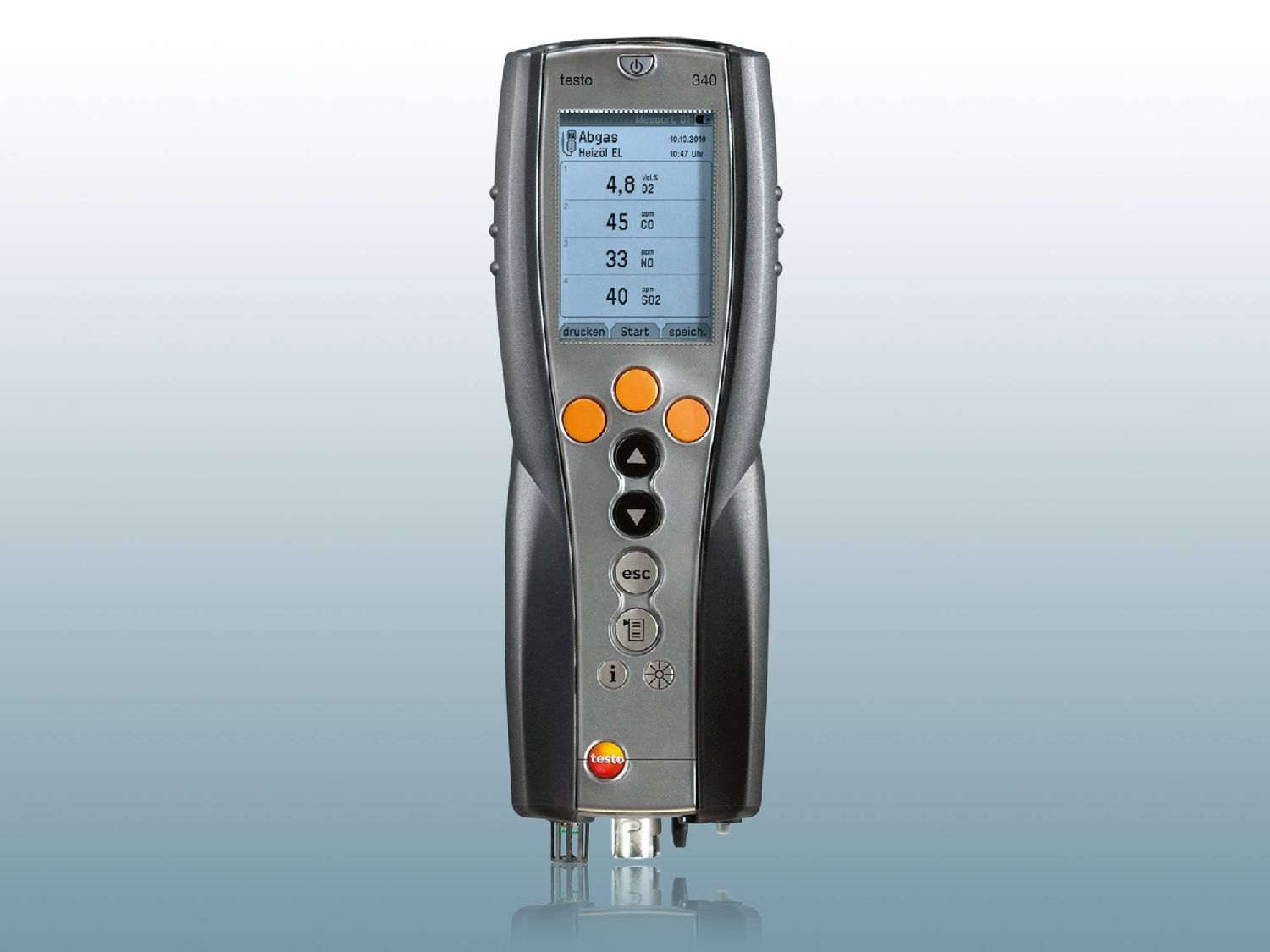 Gas Measuring Instruments : Flue gas measuring instruments from testo se