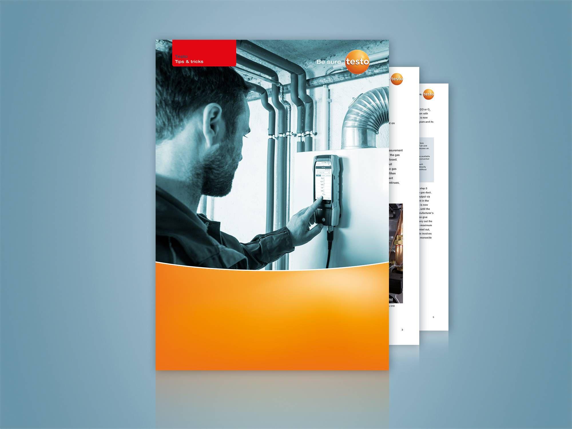 Realizar tarefas de medição em sistemas de aquecimento de forma eficiente e segura