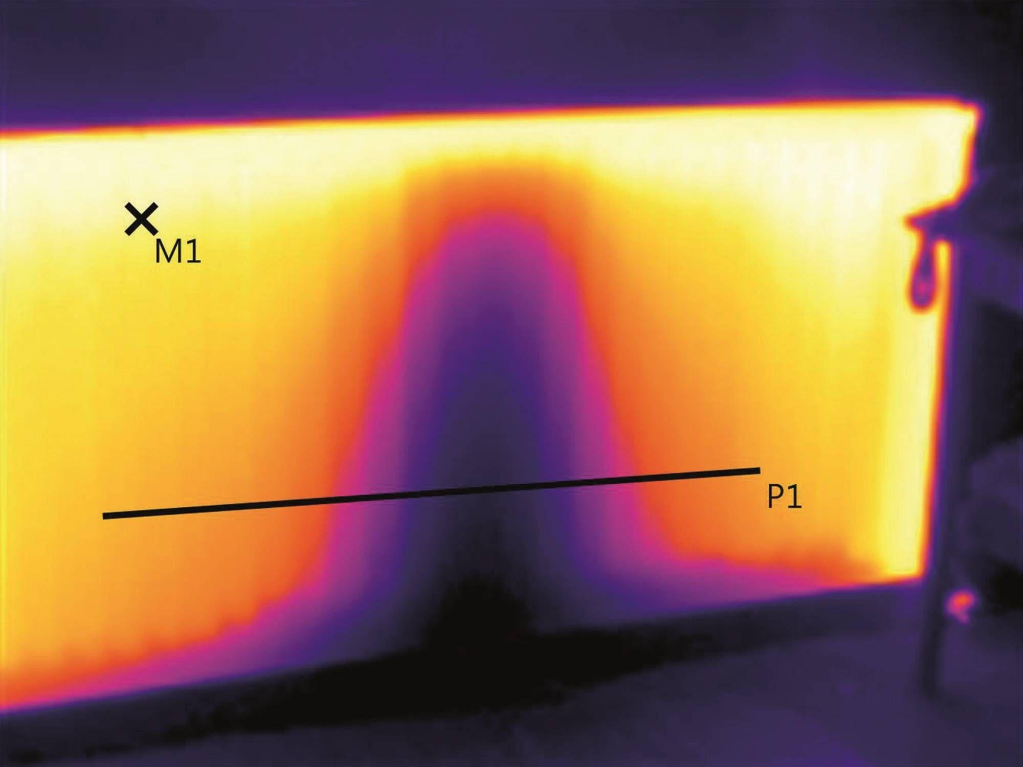 Imagen térmica del radiador