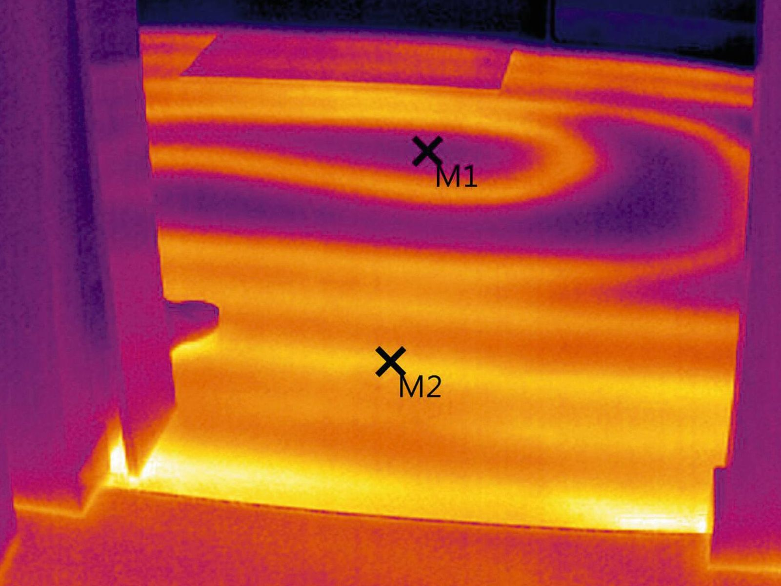 Thermal image underfloor heating