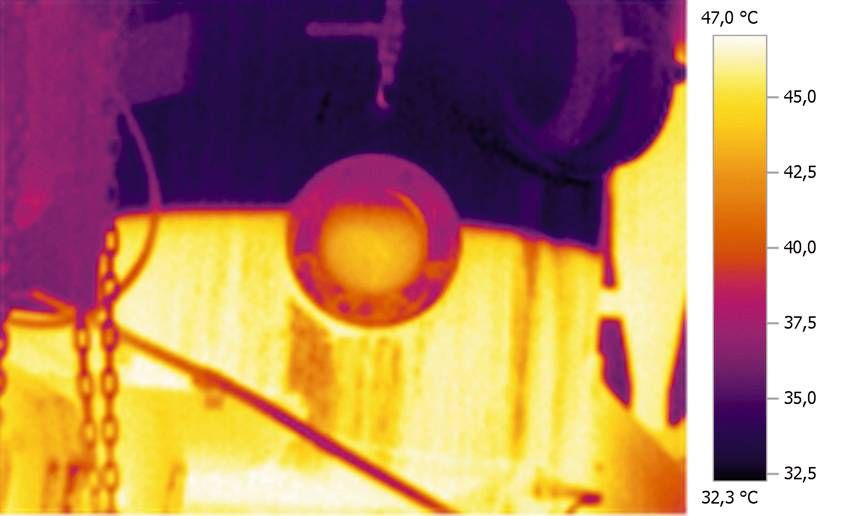 Thermal image fill level monitoring