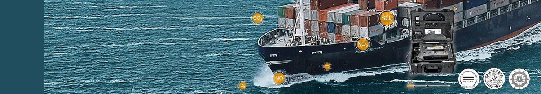 <strong>船用柴油发动机</strong>废气排放 <br/>船用 testo 350 烟气分析仪