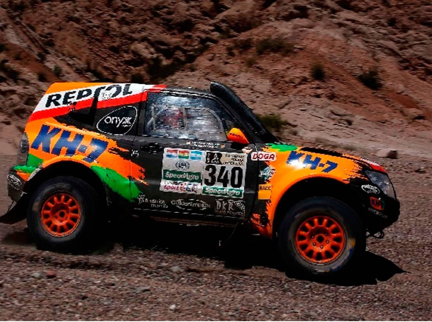 Mitsubishi equipo KH7 Dakar 2017