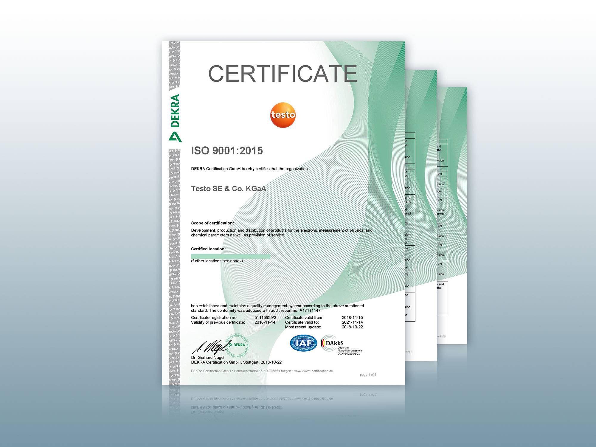 经 ISO 9001:2015 认证
