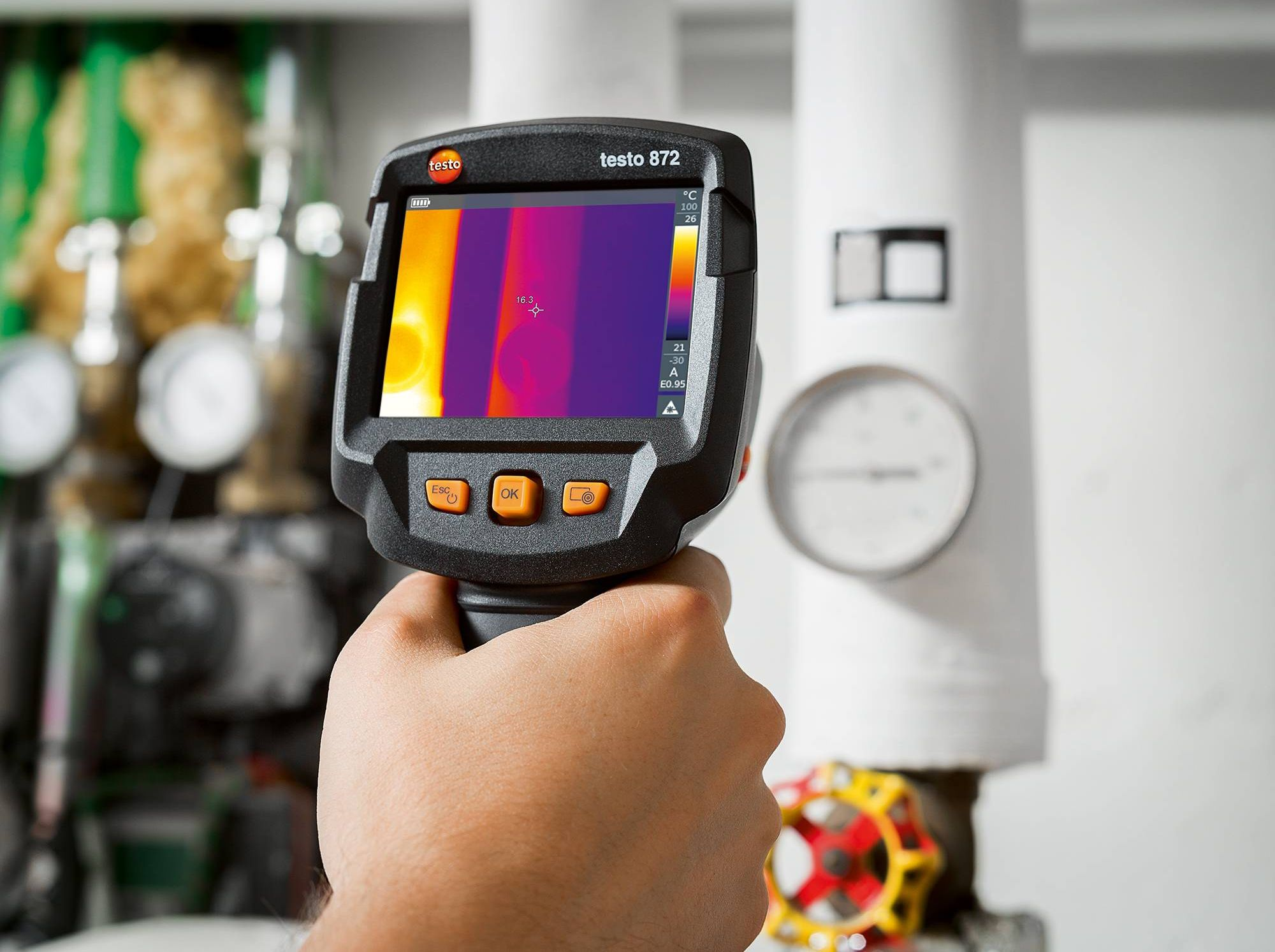 Precise thermography of object.