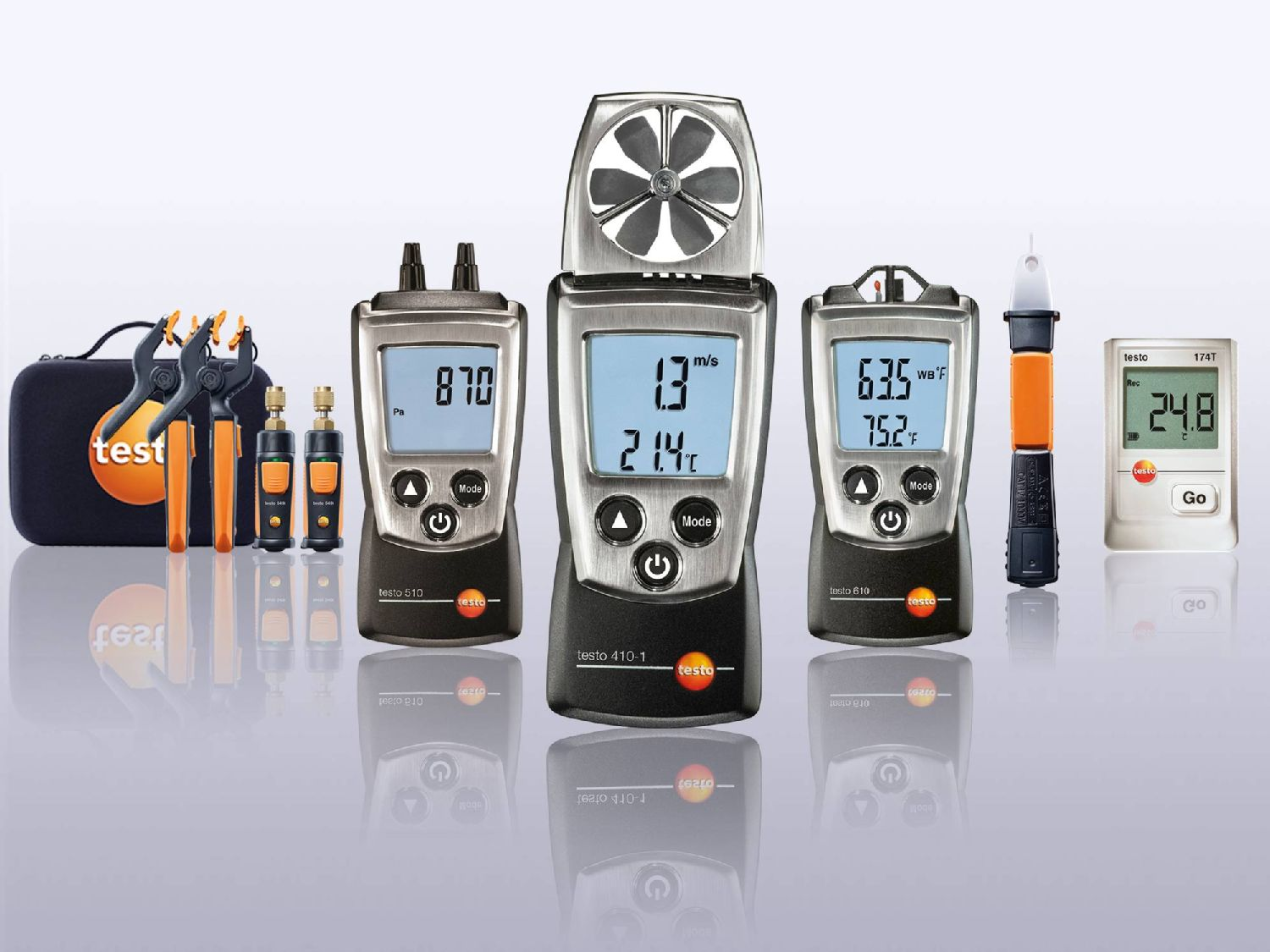 Testo measuring instruments for refrigeration engineers
