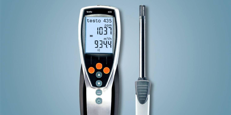 Behaglichkeitsmessung Temperatur/Feuchte mit testo 435