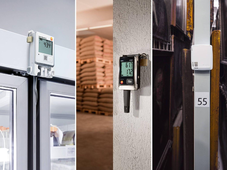 Data logger para temperatura, umidade, CO₂, radiação UV e choques