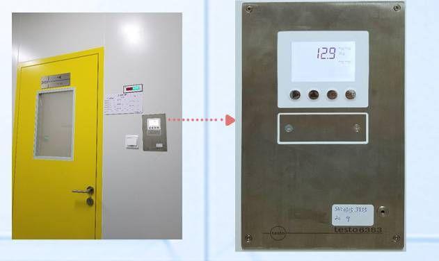 采用SS316L材质嵌入式安装的testo压差和温湿度传感器