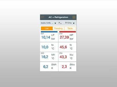 Aplikace pro chytré sondy testo Smart Probes App
