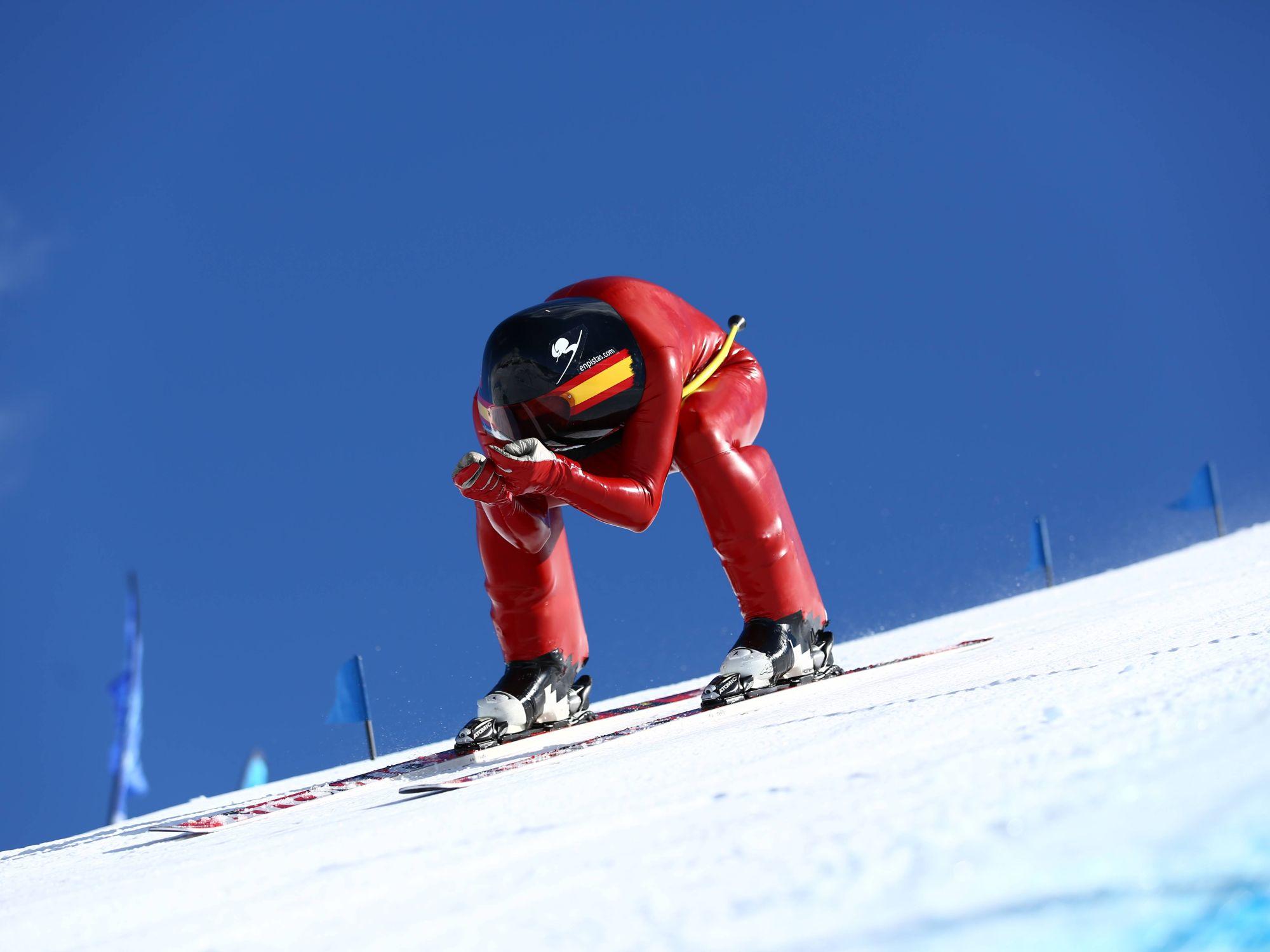El esquiador de alta velocidad R.Adarraga