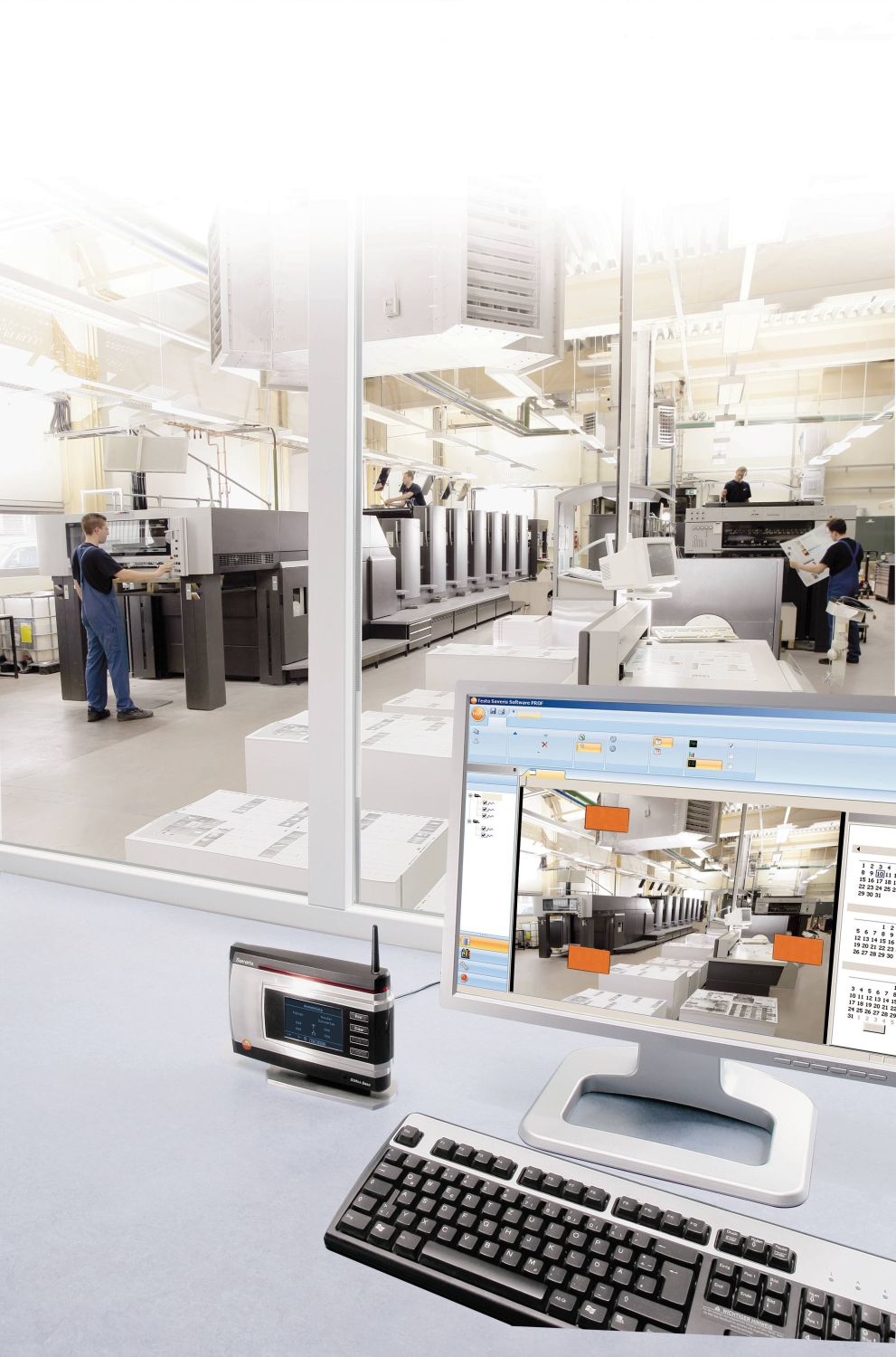 Data monitoring system testo Saveris in the industry
