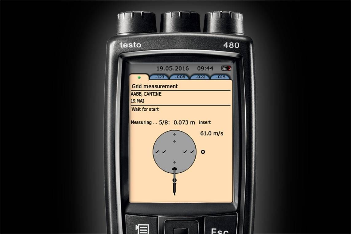 VAC grid measurement with testo 480