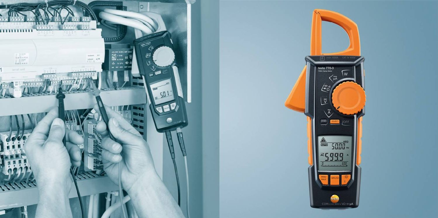 Clamp meter with Bluetooth testo 770-3