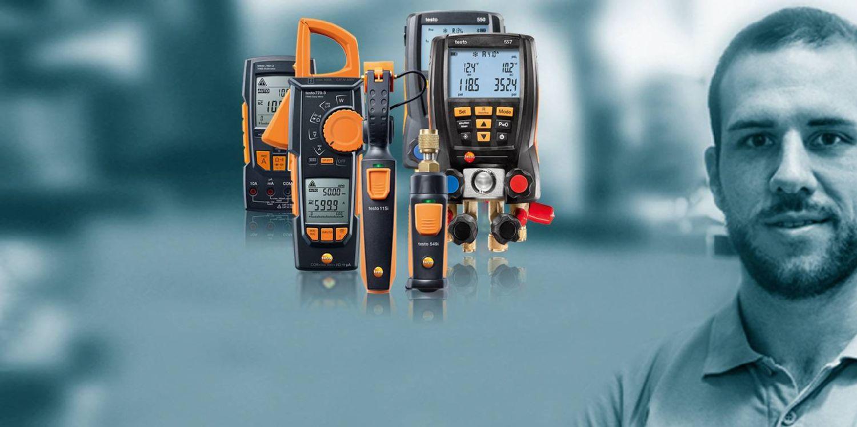 Testați setul cu manifold digital cu Bluetooth testo 550 și furtunuri