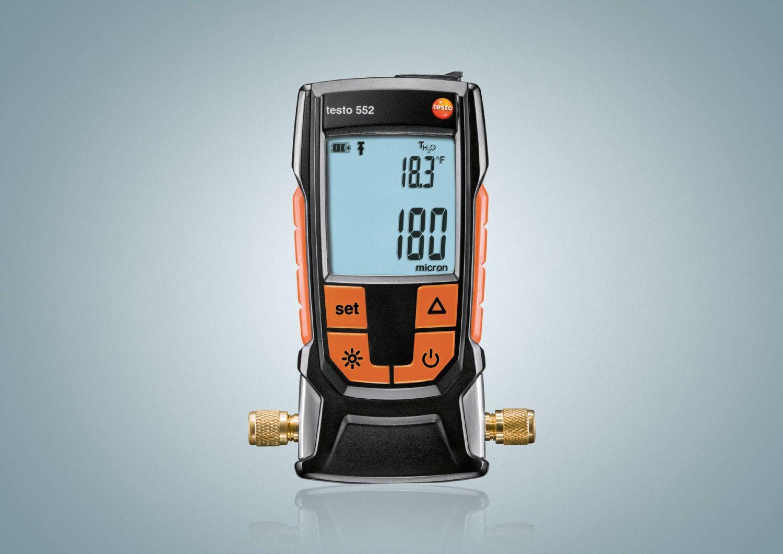 德图testo 552 数字真空表带无线蓝牙精确判断制冷系统的除湿程度及杂质的去除程度。