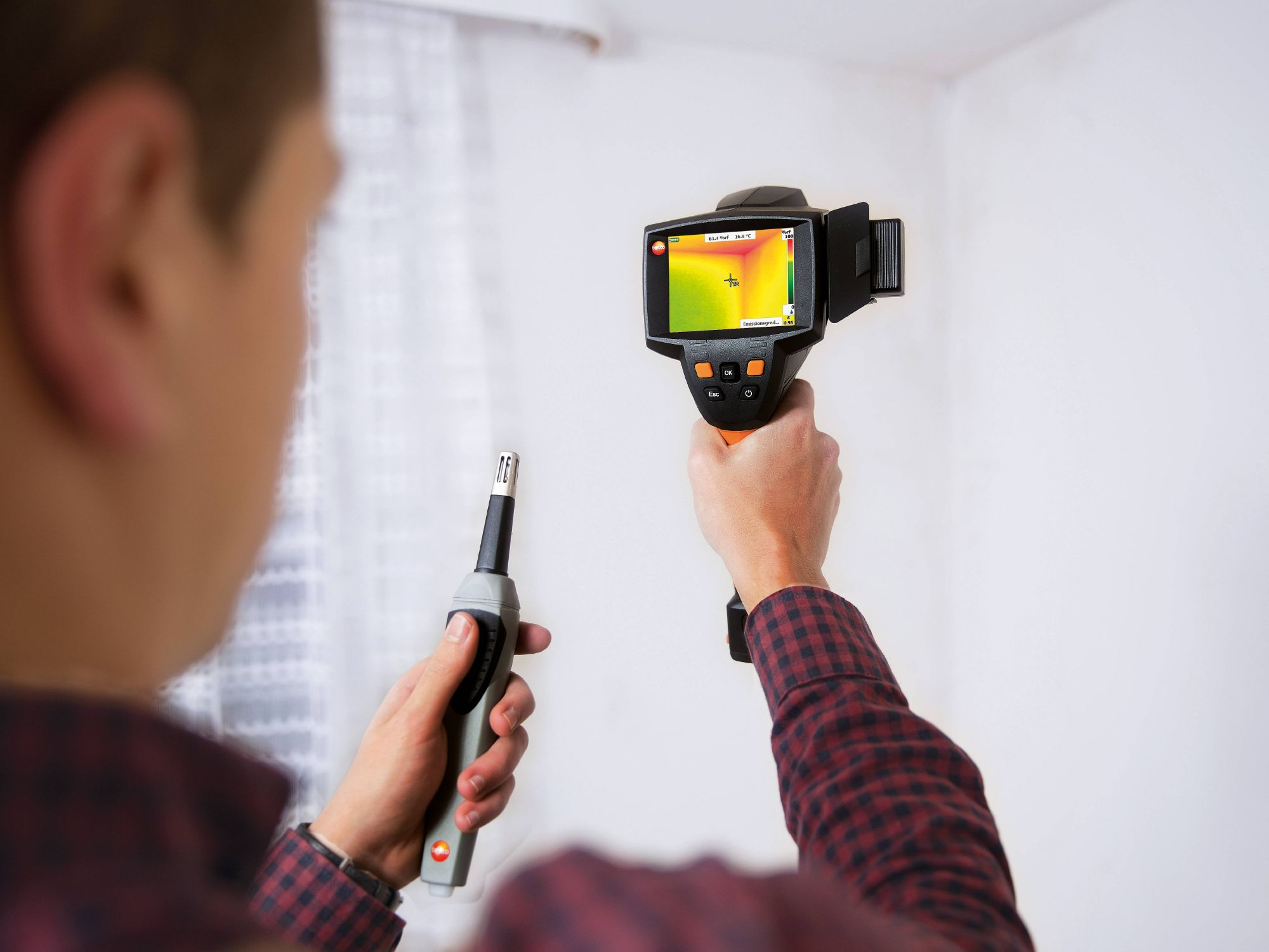 Mould detection with a thermal imager