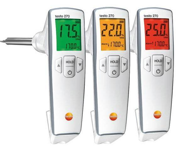 Принцип светофора при оценгке качества масла TESTO 270