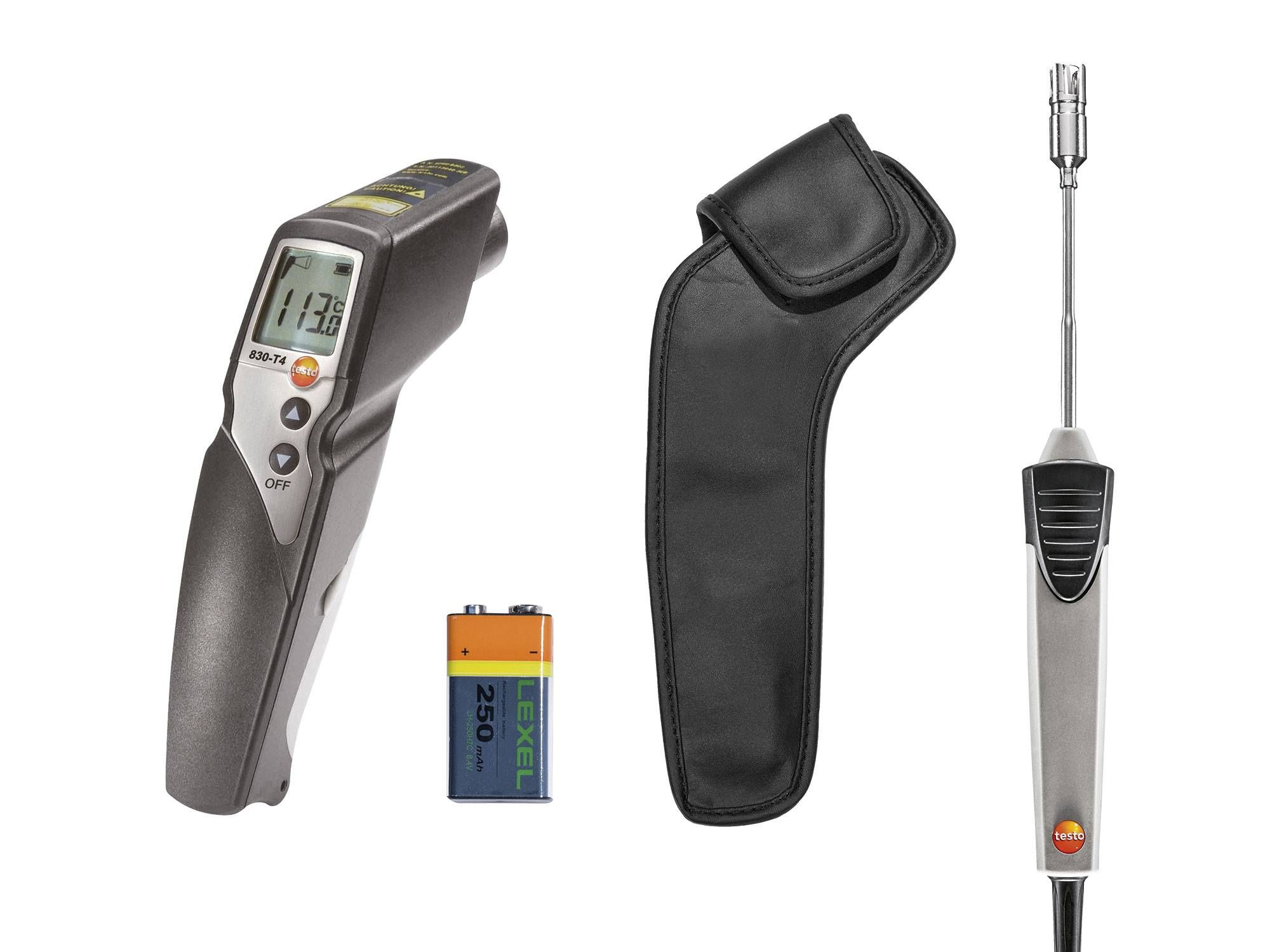 Set testo 830-T4 - Infrared thermometer - Delivery scope