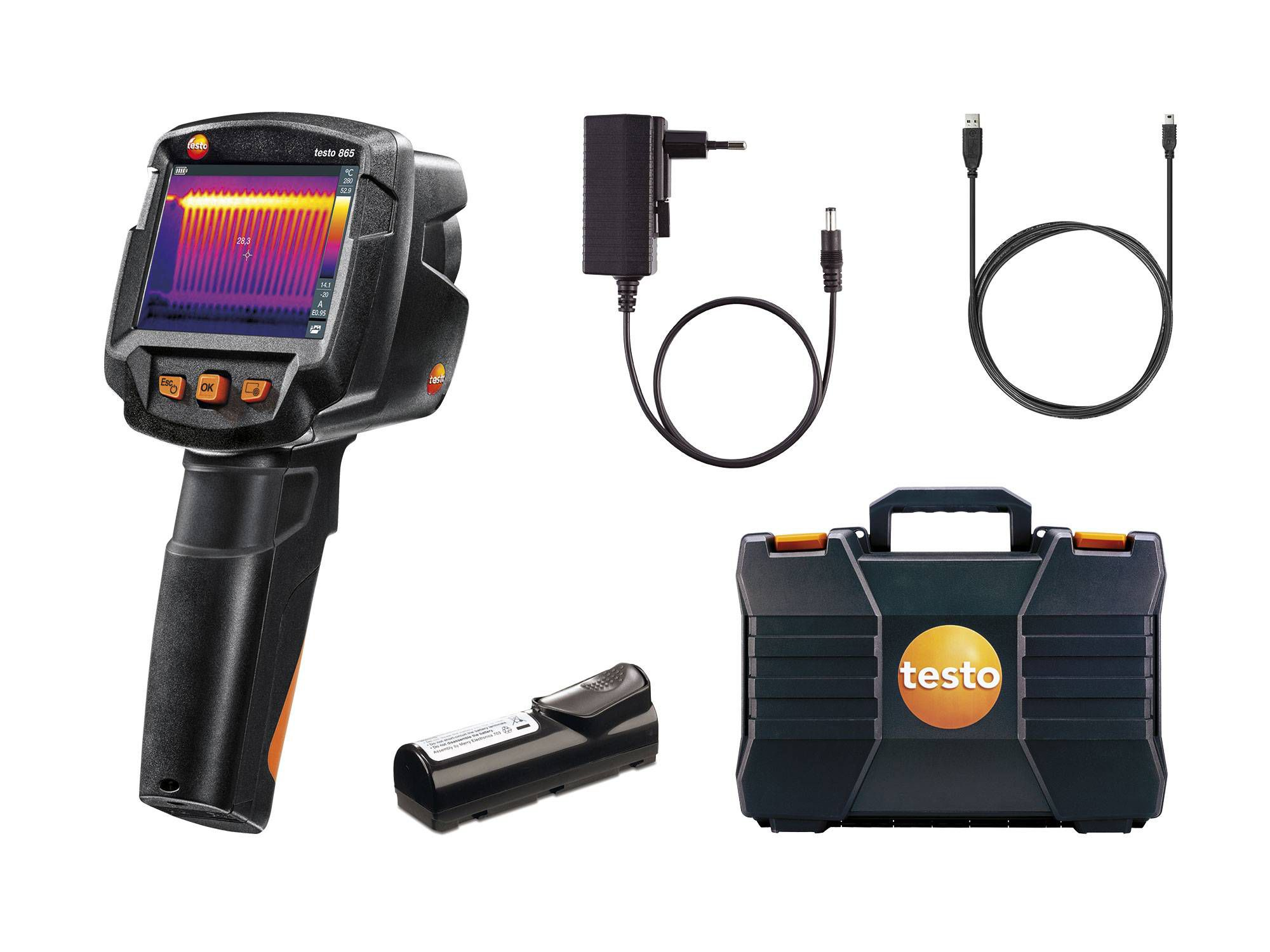 testo 865 - thermal imager - Delivery scope