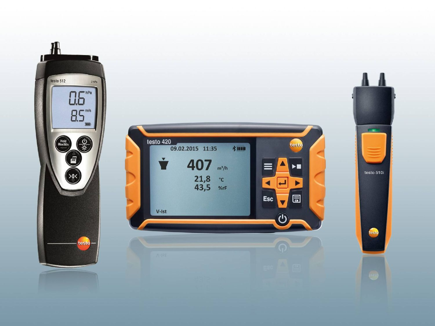 More manometers from Testo